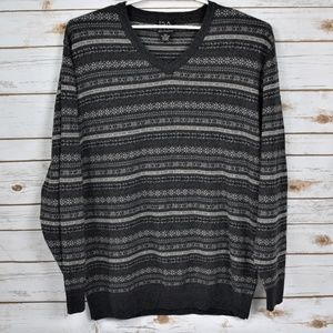 Jos.A. Bank Soft  Gray Pullover V-Neck Sweater XXL